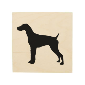 German Short-haired Pointer dog Silhouette Wood Wall Decor