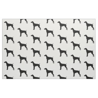 German Short-Haired Pointer Silhouette Love Dogs Fabric