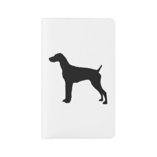 German Short-Haired Pointer Silhouette Love Dogs Large Moleskine Notebook