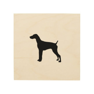 German Short-Haired Pointer Silhouette Love Dogs Wood Canvases