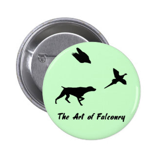 German Shorthair Pointer and Falconry Button 2 Inch Round Button