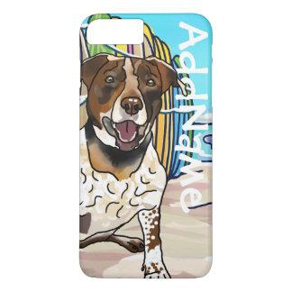 German Shorthair Pointer Mix + Pet Name iPhone 8 Plus/7 Plus Case