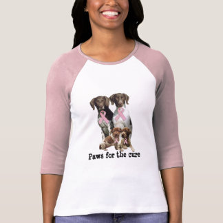 German Shorthaired Breast Cancer Ladies Shirt