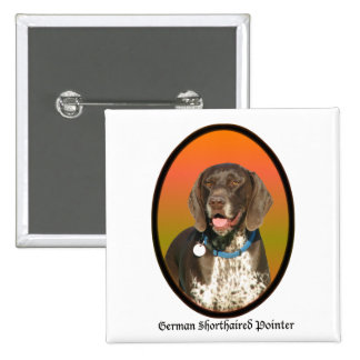 German Shorthaired Pointer 15 Cm Square Badge