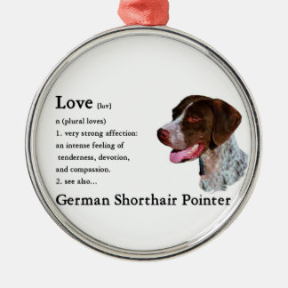 German Shorthaired Pointer Art Love Is Christmas Ornament