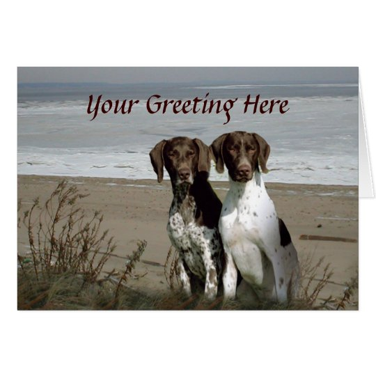 German Shorthaired Pointer Beach Greeting Card
