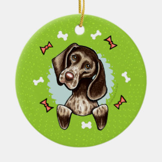 German Shorthaired Pointer Christmas Wreath Christmas Ornament