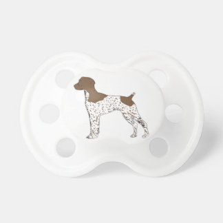 german shorthaired pointer color silhouette pacifiers