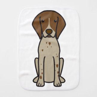 German Shorthaired Pointer Dog Cartoon Burp Cloth
