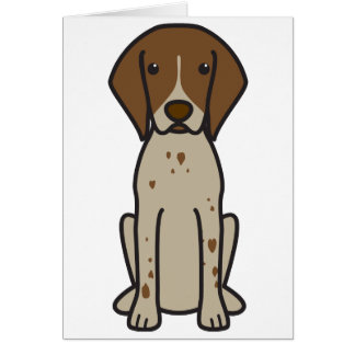 German Shorthaired Pointer Dog Cartoon Card