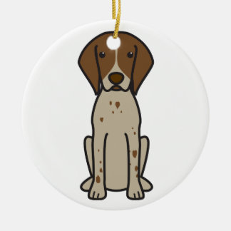 German Shorthaired Pointer Dog Cartoon Christmas Ornament