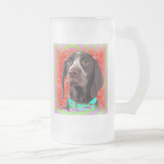 German Shorthaired Pointer Frosted Glass Mug
