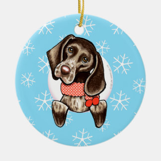 German Shorthaired Pointer Let it Snow Christmas Ornament