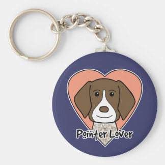 German Shorthaired Pointer Lover Basic Round Button Key Ring