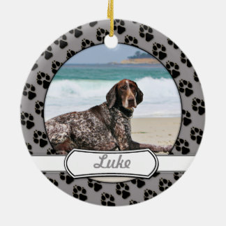German Shorthaired Pointer - Luke - Riley Christmas Ornament