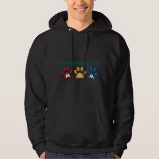 GERMAN SHORTHAIRED POINTER Mom Paw Print 1 Hooded Sweatshirt