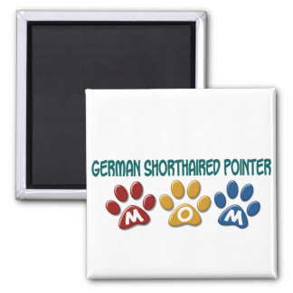 GERMAN SHORTHAIRED POINTER Mom Paw Print 1 Square Magnet