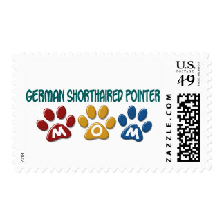 GERMAN SHORTHAIRED POINTER Mom Paw Print 1 Stamps