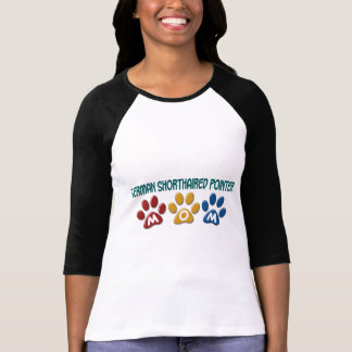 GERMAN SHORTHAIRED POINTER Mom Paw Print 1 T-Shirt