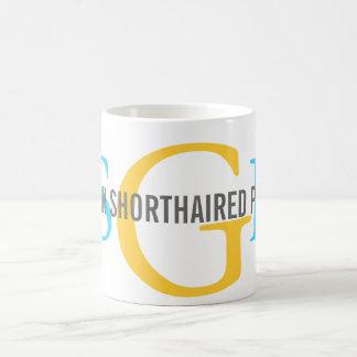 German Shorthaired Pointer Monogram Design Basic White Mug