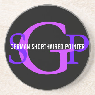 German Shorthaired Pointer Monogram Design Coasters