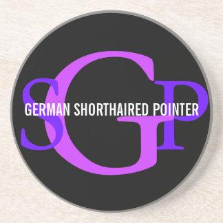 German Shorthaired Pointer Monogram Design Drink Coasters