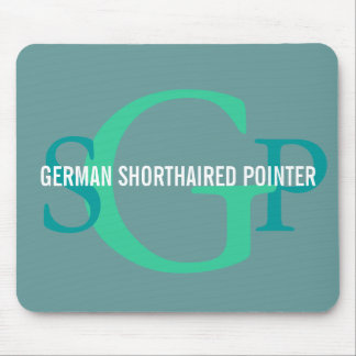 German Shorthaired Pointer Monogram Design Mouse Pad