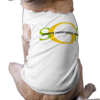 German Shorthaired Pointer Monogram Design Sleeveless Dog Shirt