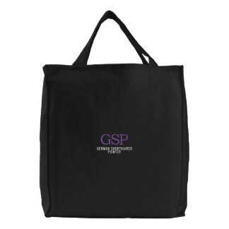 German Shorthaired Pointer Monogram Embroidered Tote Bags