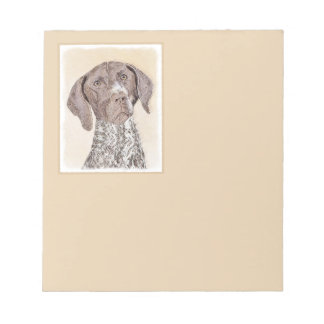 German Shorthaired Pointer Painting - Dog Art Notepad