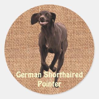 German Shorthaired Pointer Pet-lover Round Sticker