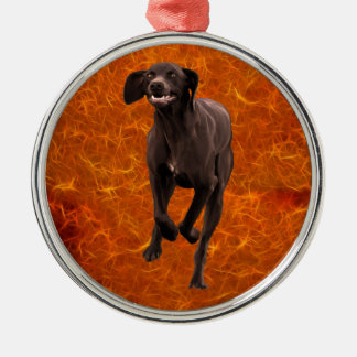 German Shorthaired Pointer Pet-lover Silver-Colored Round Decoration