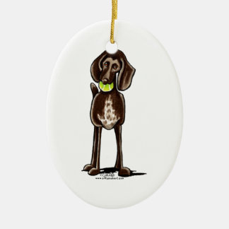 German Shorthaired Pointer Playtime Ceramic Oval Decoration