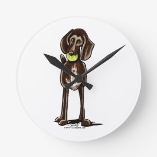 German Shorthaired Pointer Playtime Wall Clocks