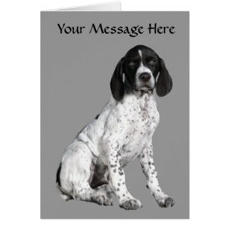 German Shorthaired Pointer Puppy Greeting Card