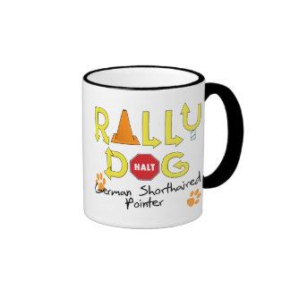 German Shorthaired Pointer Rally Dog Coffee Mugs