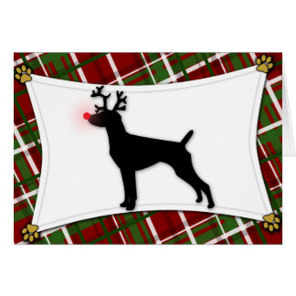 German Shorthaired Pointer Reindeer Christmas Card