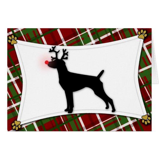 German Shorthaired Pointer Reindeer Christmas Card