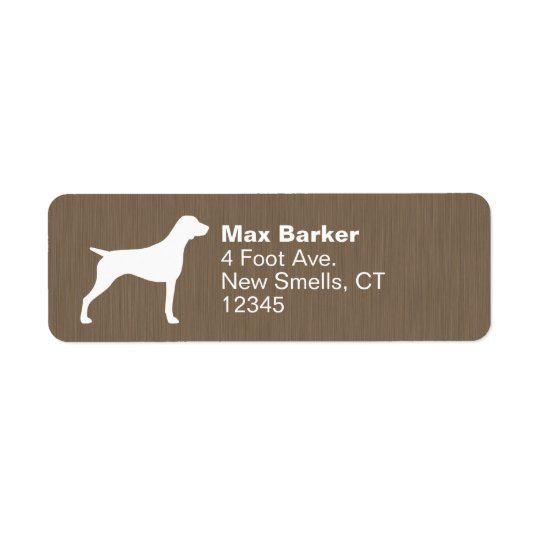 German Shorthaired Pointer Silhouette Return Address Label