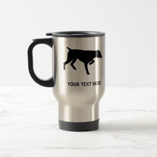 German Shorthaired Pointer silhouette Travel Mug