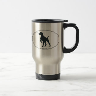 German Shorthaired Pointer Silhouette Travel Mug
