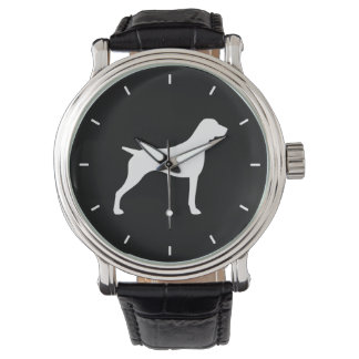 German Shorthaired Pointer Silhouette Wristwatches