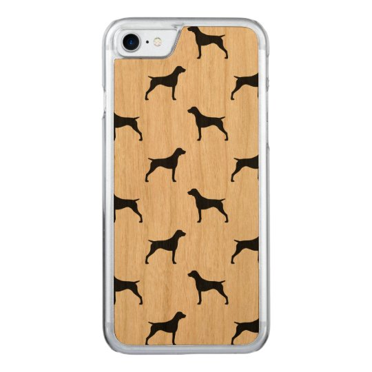 German Shorthaired Pointer Silhouettes Pattern Carved iPhone 8/7