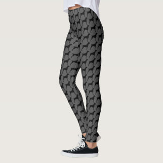 German Shorthaired Pointer Silhouettes Pattern Leggings
