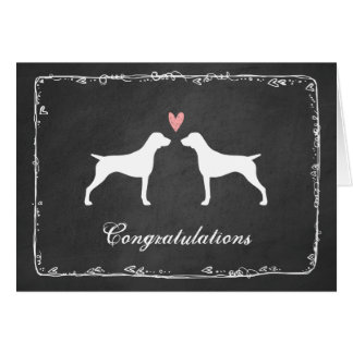 German Shorthaired Pointer Wedding Congratulations Card