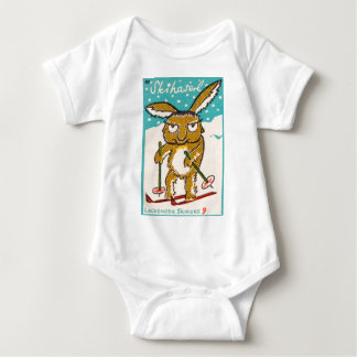 German Ski Bunny Baby Bodysuit