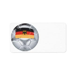German Soccer Ball Label