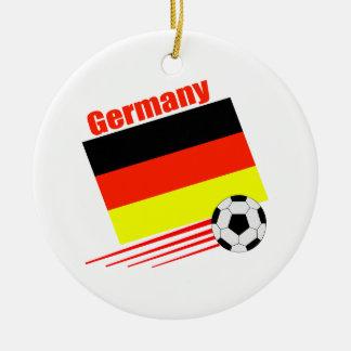 German Soccer Team Round Ceramic Decoration