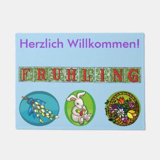 German Spring Welcome Mat