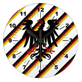 German stripes flag large clock
